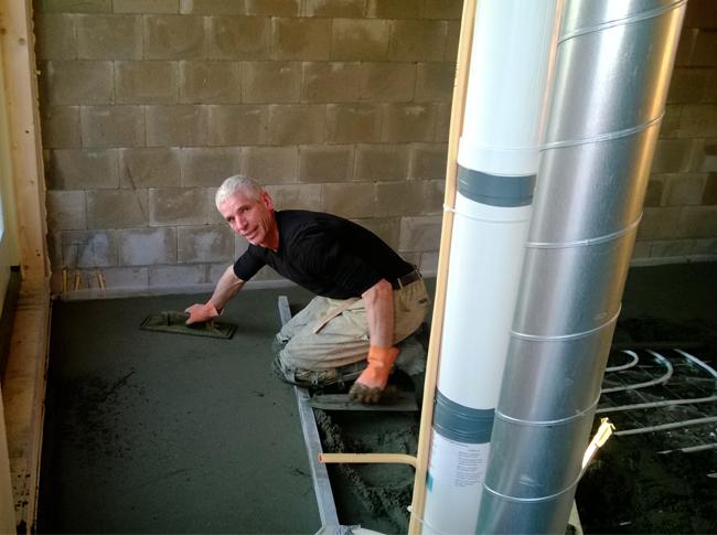 Realisatie cementdekvloer